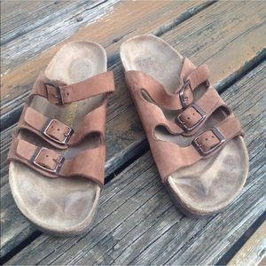 Birkenstock Florida Brown Suede Sandals W10 M8 41